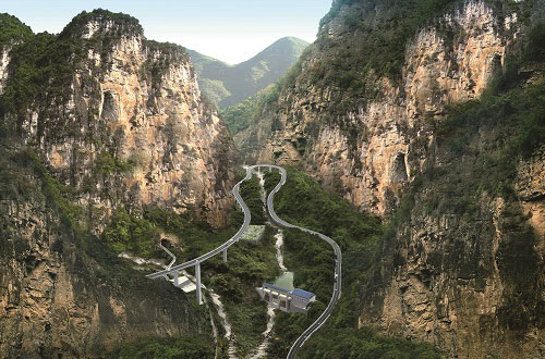 Survey and Design from Mianzhu to Maoxian Highway in Sichuan